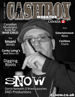 Snow on Cashbox Magazine front cover